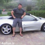 عکس خودروی لوکس داور مسابقات قویترین مردان ایران