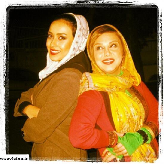 عکس جدید بهنوش بختیاری وبرادرزاده اش در دفتر کارش