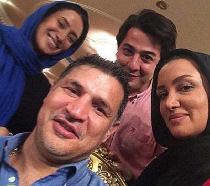 عکس سلفی علی دایی با 2 بازیگر زن