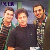 ابوالفضل پورعرب به همراه پسرش در کنار علی ضیا+عکس