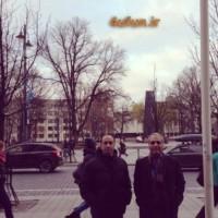 مهران مدیری و عارف لرستانی در لیتوانی+عکس